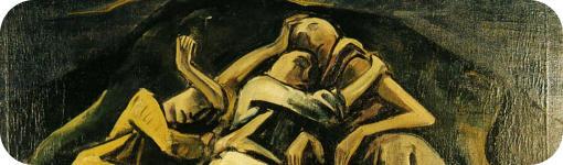 """Detalle de """"Hombres durmiendo"""" de Schafende Menscen"""