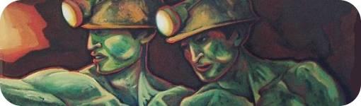 """Detalle de """"Mineros bolivianos"""" de Manuel López Acosta"""