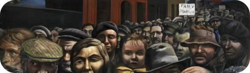 """Detalle de """"Manifestación de 1934"""" de Antonio Berni"""