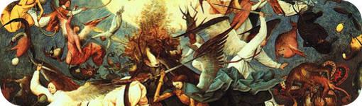 """Detalle de """"La caída de los ángeles rebeldes"""" de Brueghel El viejo"""