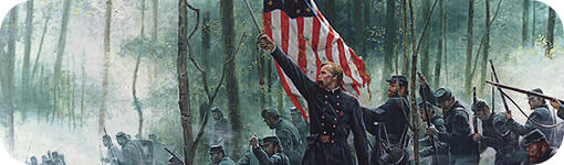 "Detalle de ""Hero of Little Round Top"" de Mort Künstler"