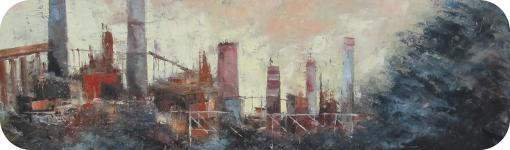 "Detalle de ""Paisaje industrial"" de Andrés Vijande"