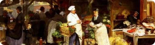 "Detalle de ""El mercado de Maubeuge"", de Victor Gabriel Gilbert"