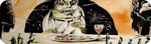 """Detalle de """"El banquete"""" de Maugdo Vásquez"""